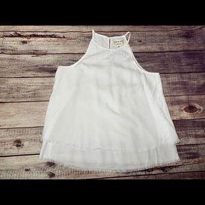 CLOTH & STONE FRAYED Hem Layered CAMI TANK XS